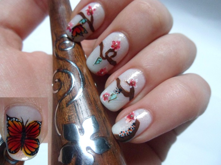 les papillons s envolent participation concours les ongles de nany. Black Bedroom Furniture Sets. Home Design Ideas