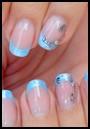 Gel néon bleu perlé - juin 2014